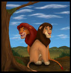 Simba and Malka - coloured