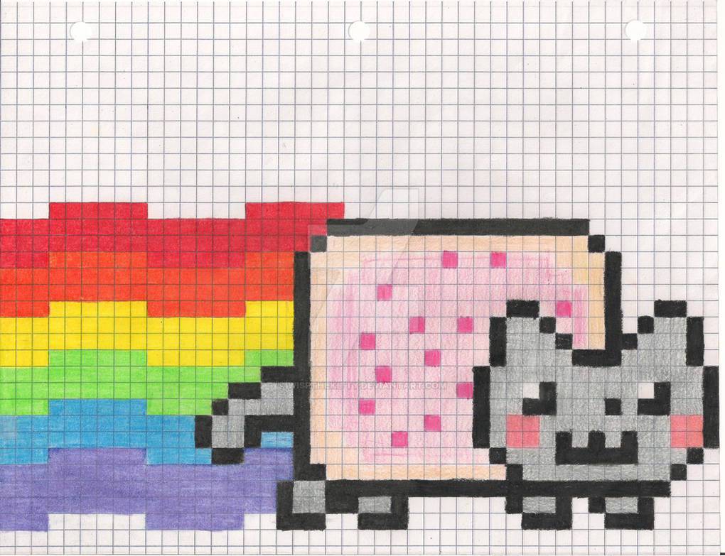 Nyan Cat Graphing Pixel By Wispthekitty On Deviantart