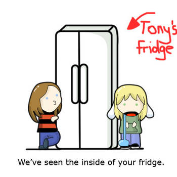 Tony's fridge by ChobiChibi