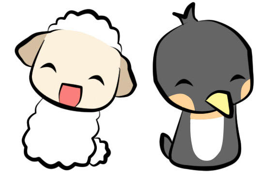 sheep and penguin by chobichibi on deviantart. Black Bedroom Furniture Sets. Home Design Ideas