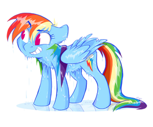 Soaked Rainbow by Graystripe64