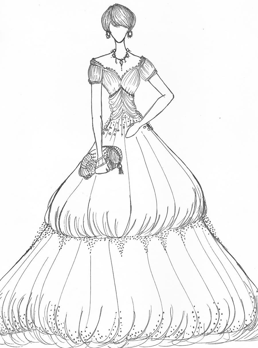 The Gallery For Gt A Line Wedding Dress Sketch