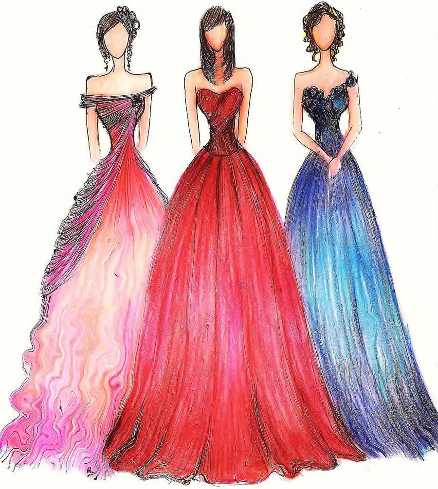Formal Gowns II by JoyceCruz on DeviantArt