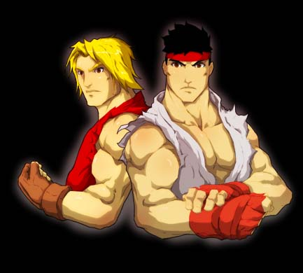 ken and ryu by Anny-D