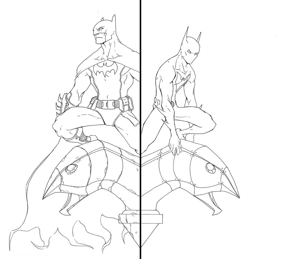 Batman And Beyond Lineart By Anny D On DeviantArt