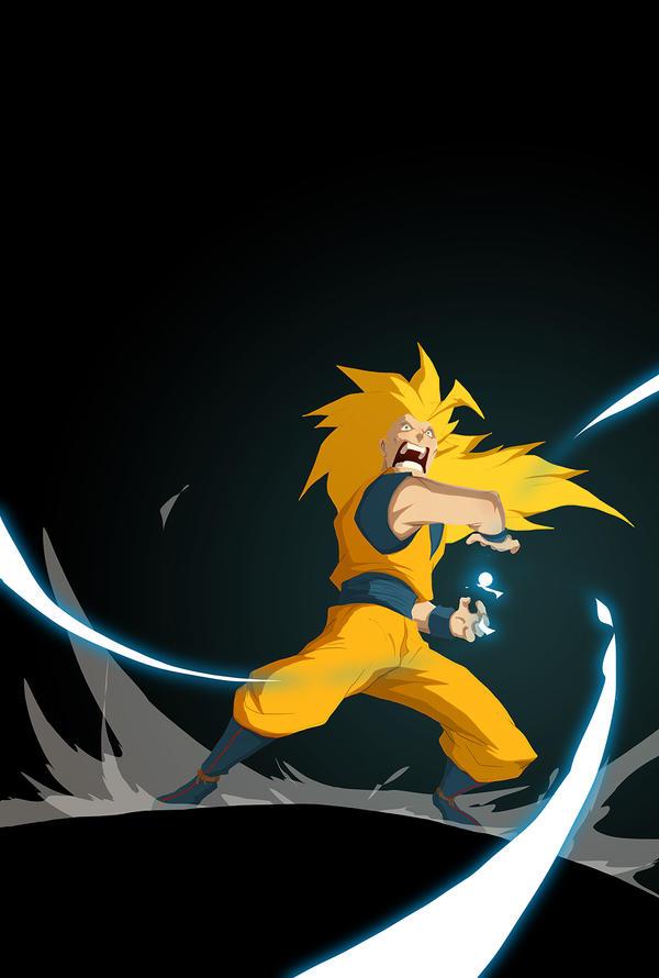 Goku Ssj3 kamehameha by Anny-D on DeviantArt