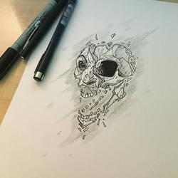 skull face design