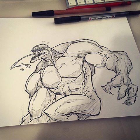 venom sketch by Anny-D