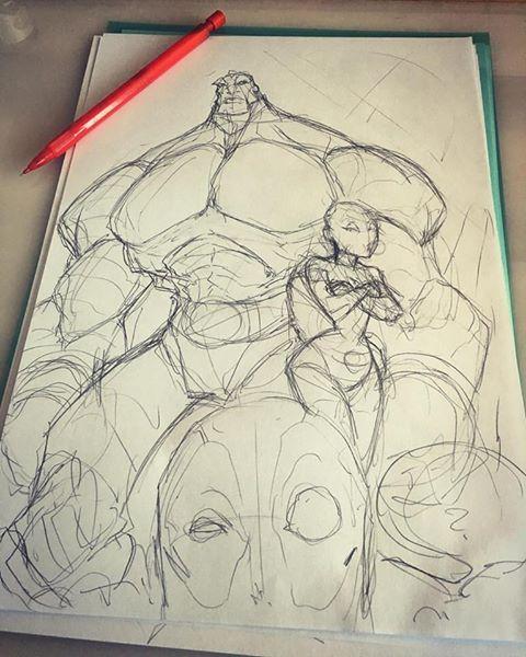 deadpool gang sketch by Anny-D