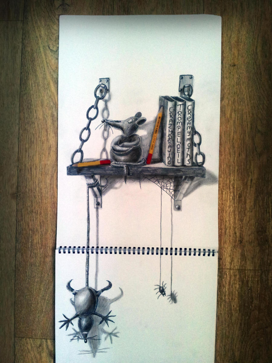 Bookshelf rats