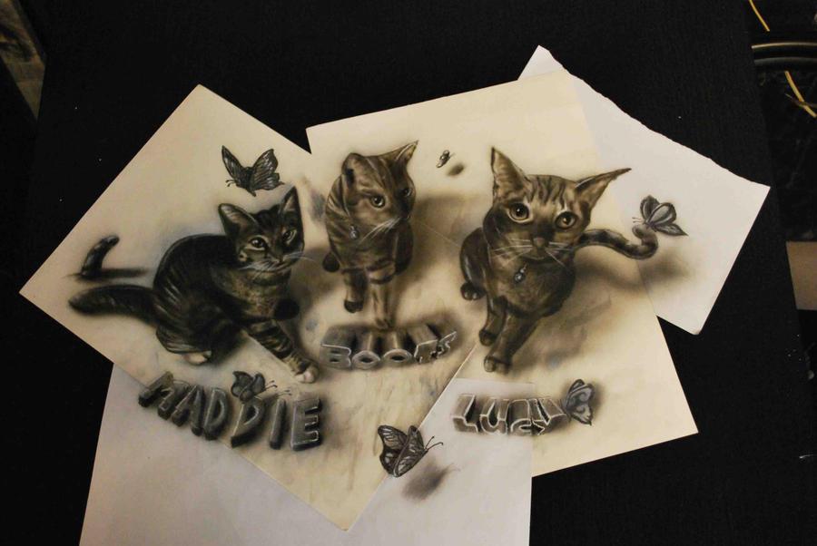 kittens by jjkairbrush d5qawwj Amazing 3D Drawings by Ramon Bruin