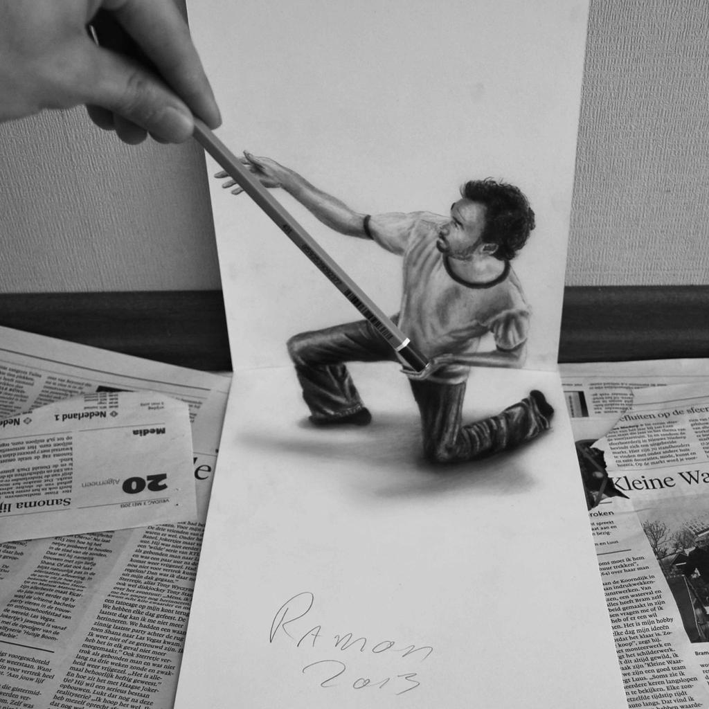 the little helper by jjkairbrush d67fdu5 Amazing 3D Drawings by Ramon Bruin