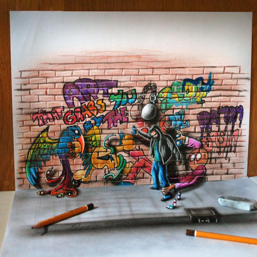 3d Street Art by JJKAirbrush