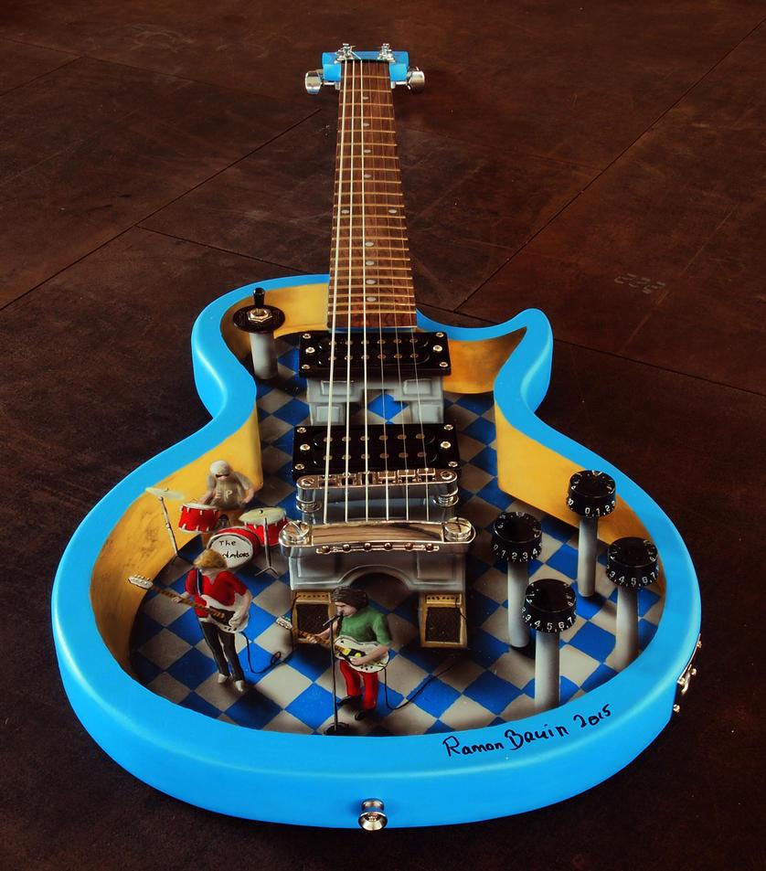 Guitar art by JJKAirbrush