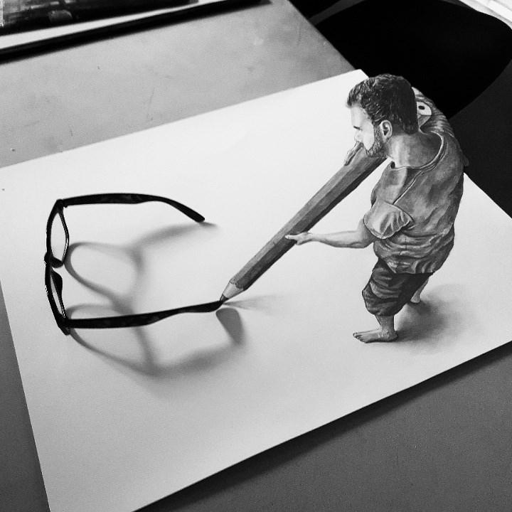 Minime drawing glasses by JJKAirbrush
