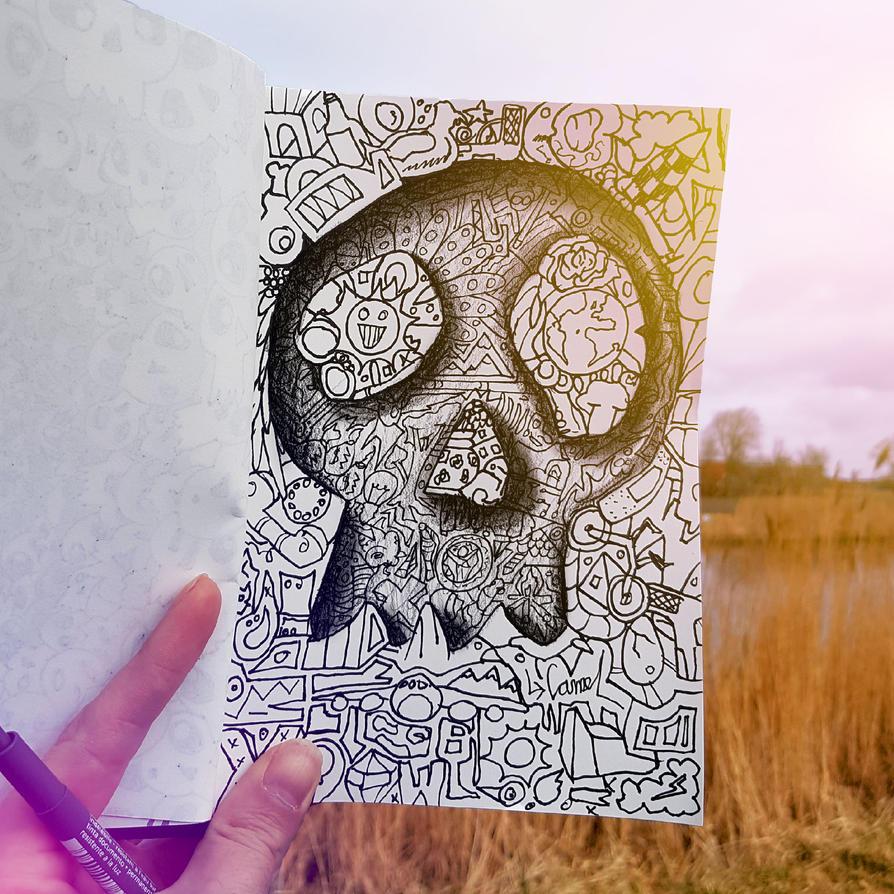 Skull sketch by RamonBruin