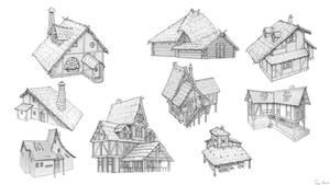 medieval-huts