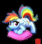 Rainbow on Pillow