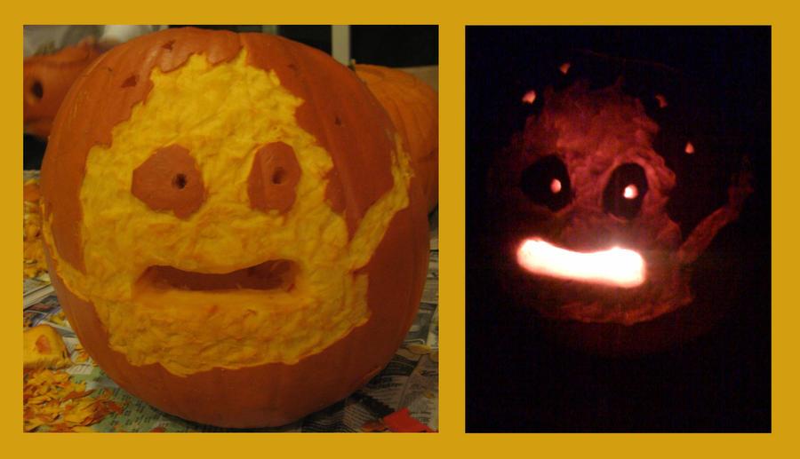 Calcifer Pumpkin by NelmaThyria