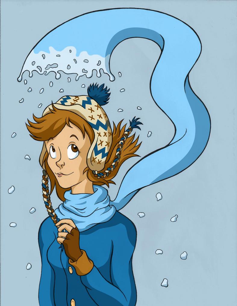 Snow Scarf by NelmaThyria