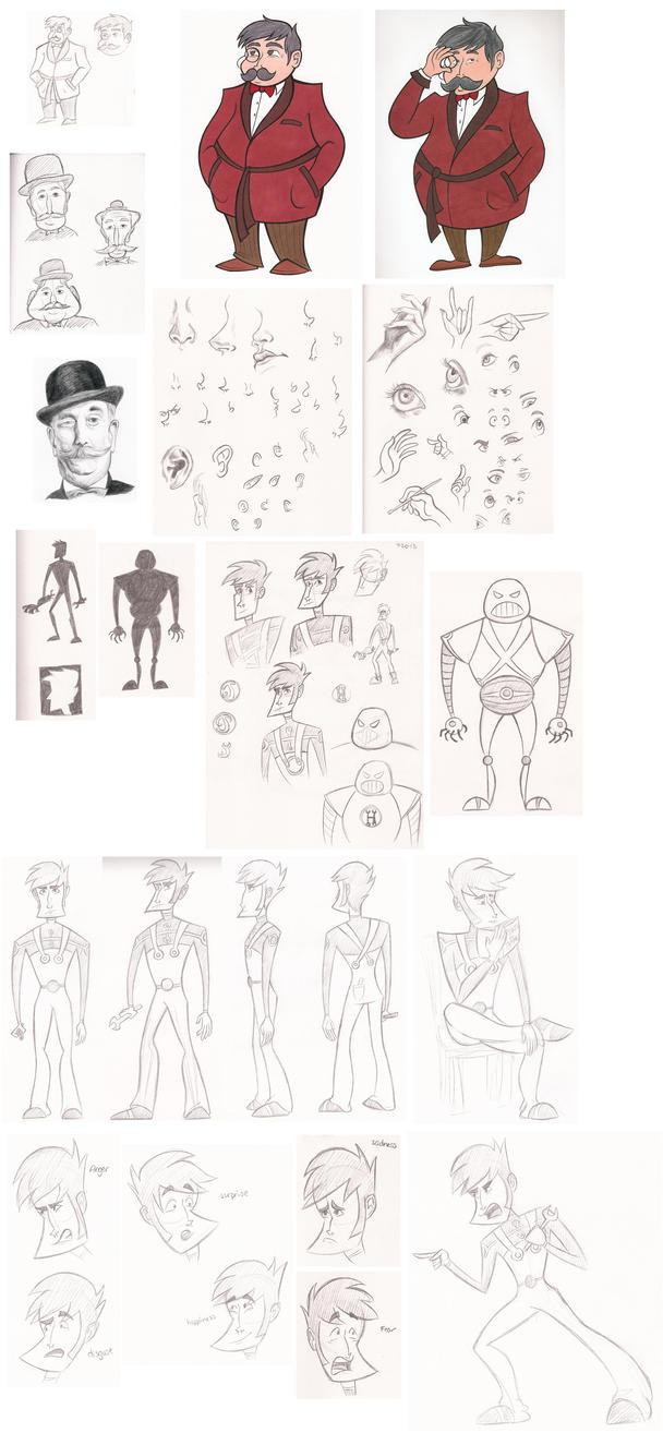 Character Design Class : Character design class stuff by nelmathyria on deviantart