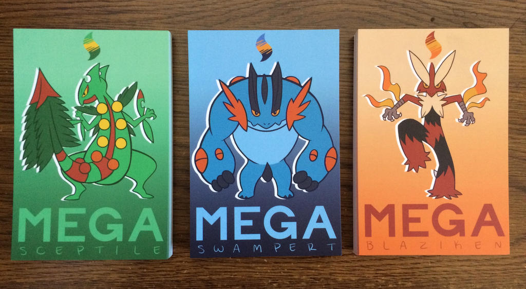Mega Hoenn Starters by NelmaThyria
