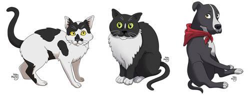 Pet Portraits Part 1 by NelmaThyria