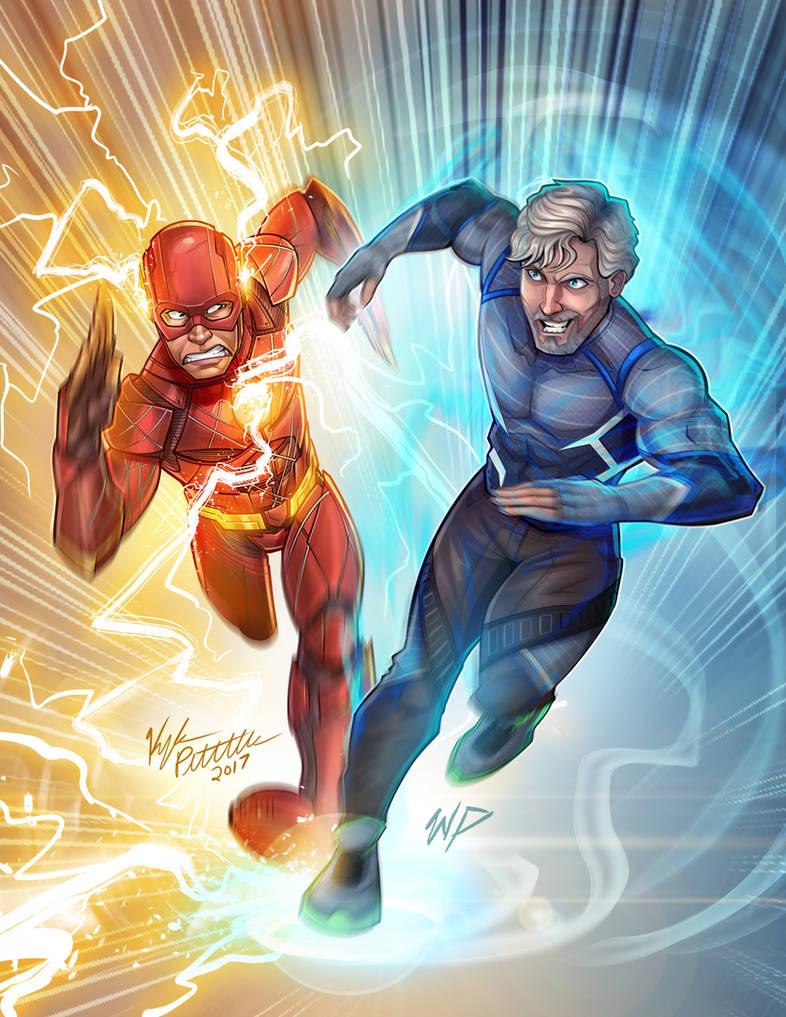 The flash vs quicksilver by puekkers on deviantart - Quicksilver wallpaper marvel ...