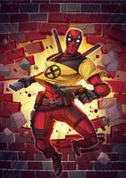 Deadpool Xmen by Puekkers