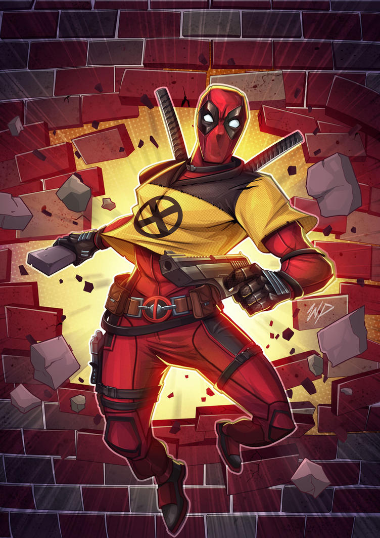 Deadpool Xmen by Puekkers