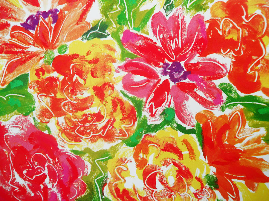 Bright Floral Texture