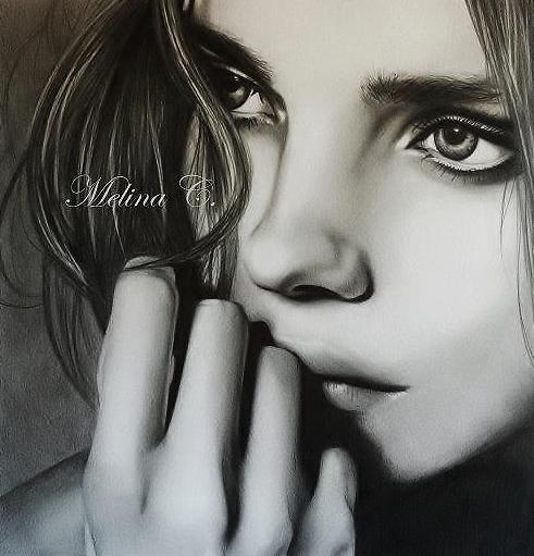Portrait supermodel. by MelinaRadke