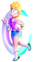 NEON HIPSTER //+SPEEDPAINT (fixed link)// by OliveCow
