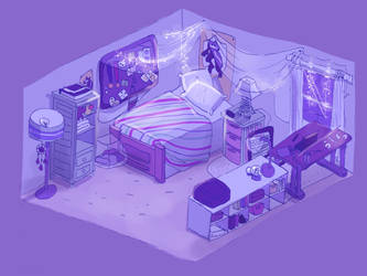 My cave (+SPEEDPAINT) by OliveCow