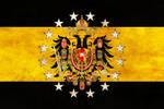 Danubian Federation Grunge Flag