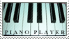 Piano Player - Stamp