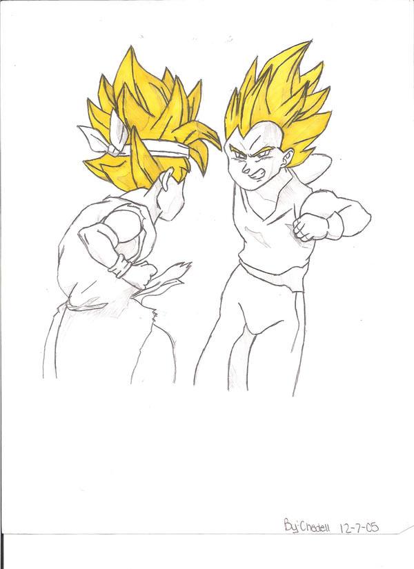 Dragon Ball Gt Goku Jr. Goku Jr. Vs. Vegeta Jr. by