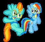 Lightning Dust and Rainbow Dash vector