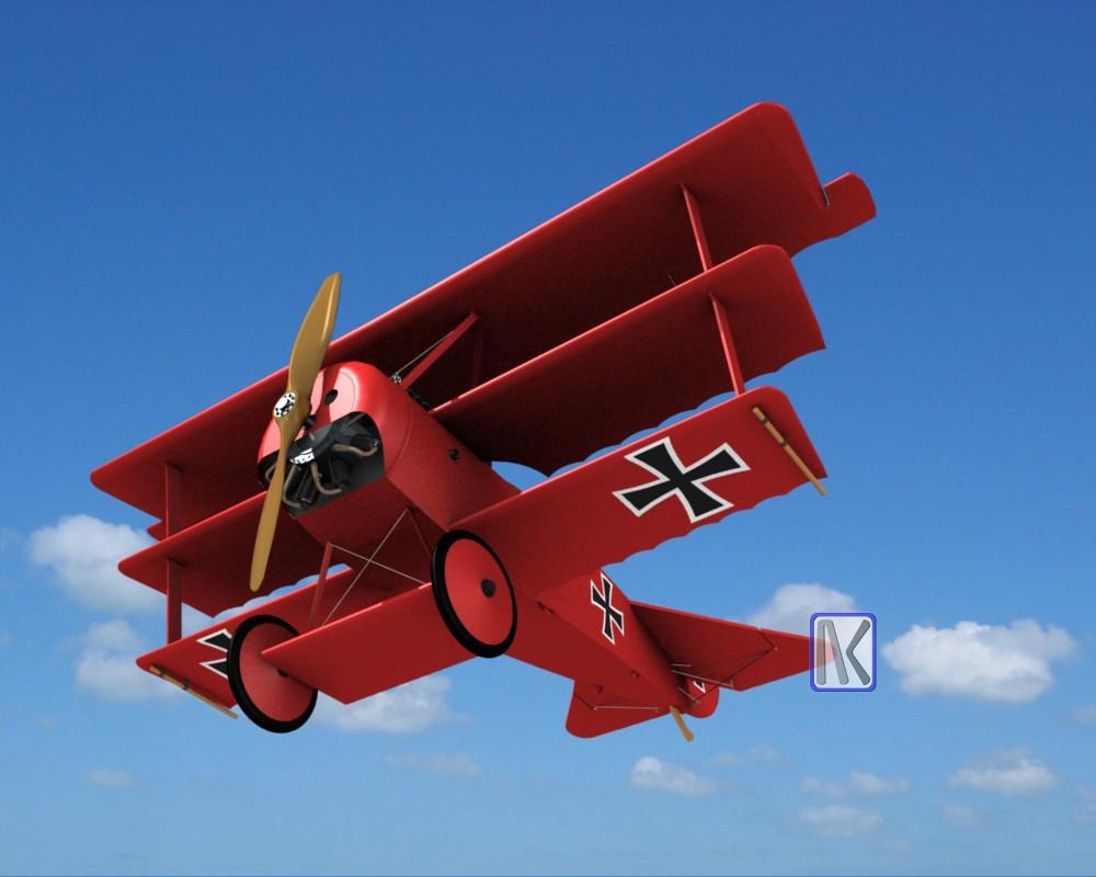 Red Baron Plane WW1