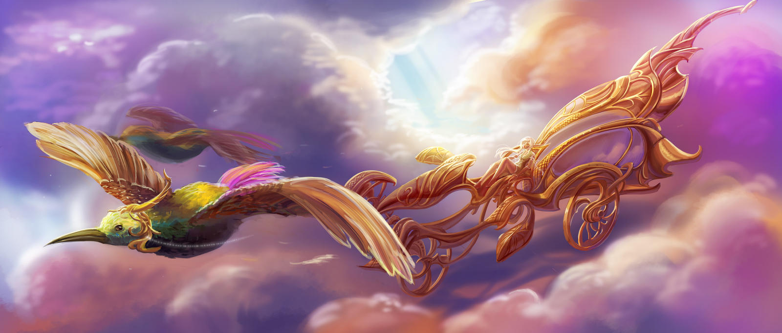 a nap in the sky by yangtianli