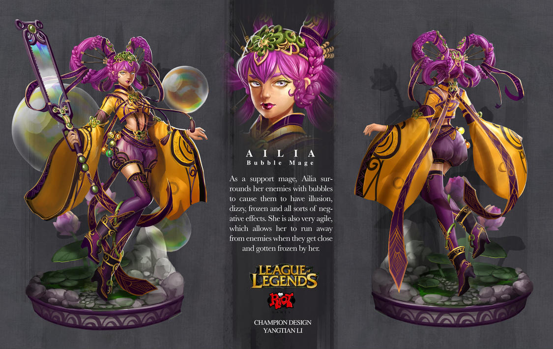 Character Design League Of Legends : League of legends ailia by yangtianli on deviantart