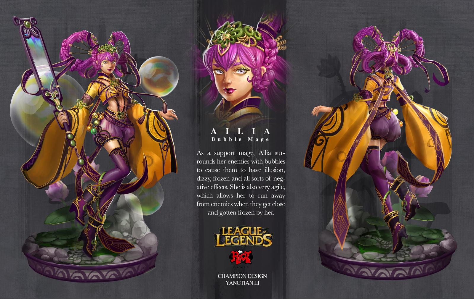League Of Legends Ailia By Yangtianli On Deviantart