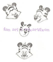 Hobbes face sketches 1
