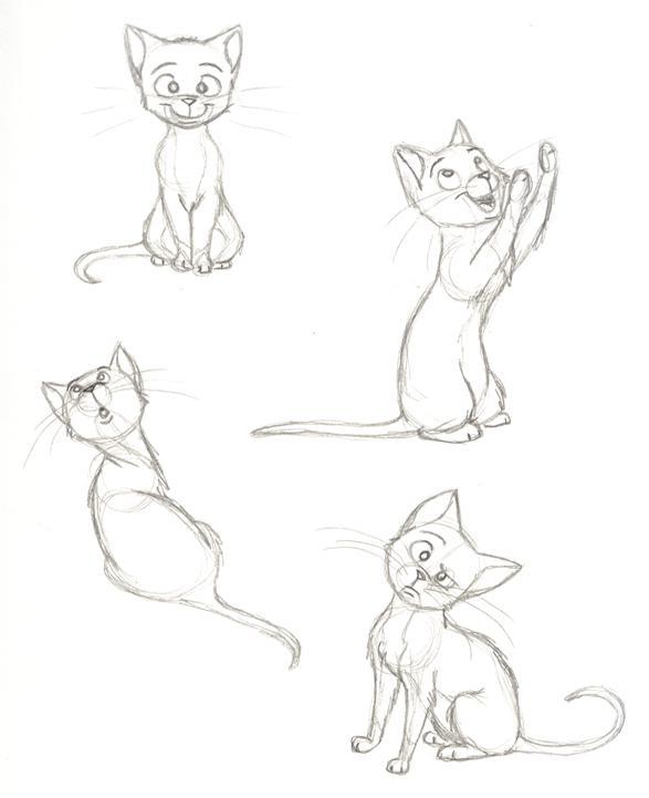 cat sketches by pixarvixen on deviantart