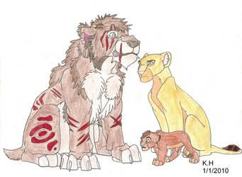 Kaiku, Kana and Dobaki by MejX1234