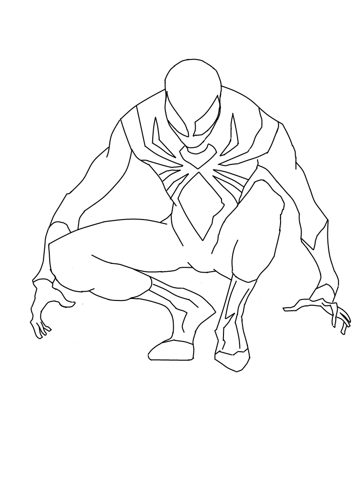 Black spiderman coloring pages games ~ Iron Suit Spiderman Preview by CyberAxl on DeviantArt