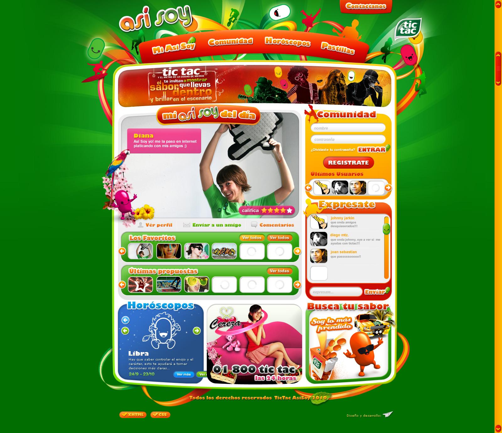 web design tictac mexico by diego64