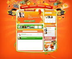 web design tictac naranja by diego64