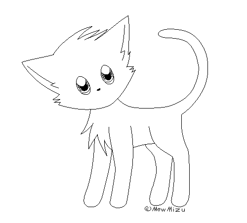 free cat lineart  ms paint friendly ver   by mewmizu on