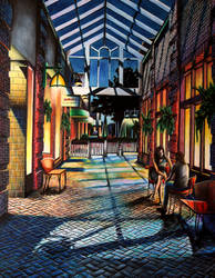 Courtyard (colored Pencils) by zoee7